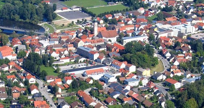 Ville de Roding. (Source : http://www.oberpfalz-luftbild.de/roding.htm)