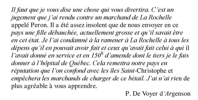 Lettre de Pierre de Voyer d'Argenson au père Lalemant. Octobre 1658. (Source : Bibliothèque et Archives Canada. MG8, A1, 2e série, vol. 1, p. 292-294 (transcription). Nouvelle-France : Correspondance officielle)