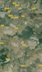 Le village d'Aulnay. (Source : Google)