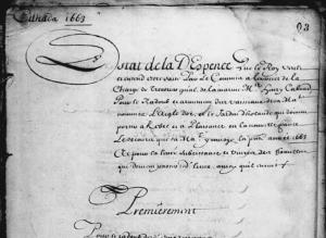 État de la dépense du 22 avril 1663. Extrait. (Source : Archives nationales d'Outre-Mer (ANOM, France), COL C11A 113/fol. 3-8)