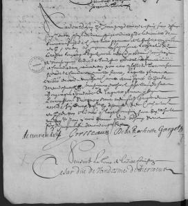 """Première page de la Commission. (Source : Archives Canada-France en ligne. B198. Registre de """"La Majesté"""" de l'Amirauté de La Rochelle, 1650-1668, vue 90/95. 26 avril 1663)"""