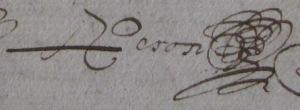 Signature en 1638