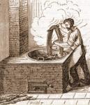 Le teinturier. (Source : http://www.vieuxmetiers.org/gravure/_teinturier.htm)