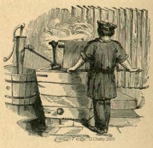 Le teinturier (Source : http://www.vieuxmetiers.org/gravure/_teinturier2.htm)