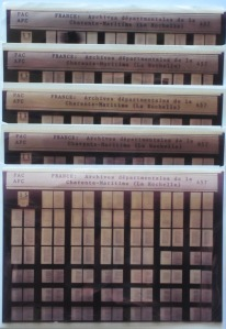 Microfiches provenant des APC. (Source : Collection Guy Perron)