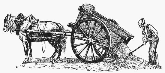 Tombereau. (Source : L'Encyclopédie Larousse en ligne)