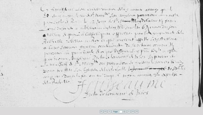 Sépultures juillet 1627