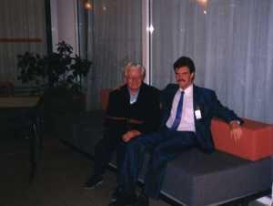Seule et unique rencontre entre Suzanne Bonniot et Guy Perron. La Rochelle. 6 octobre 1990. (Source : Collection Guy Perron)