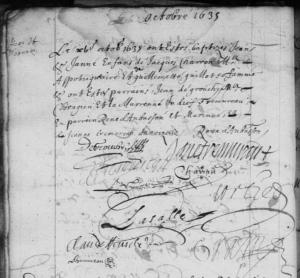 Acye de baptême de Jean Charon