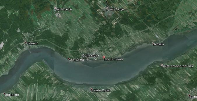 Les Écureuils (anciennement Pointe aux Écureuils).  (Source : Google Earth)
