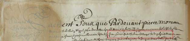 Contrat d'engagement de Jean Benoît