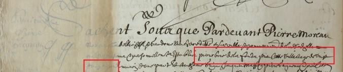 Contrat d'engagement de Pierre Bire