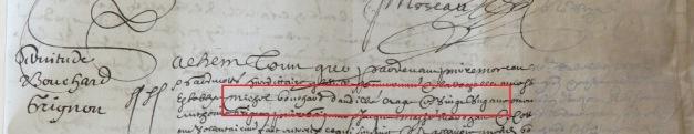 Contrat d'engagement de Michel Bouchard