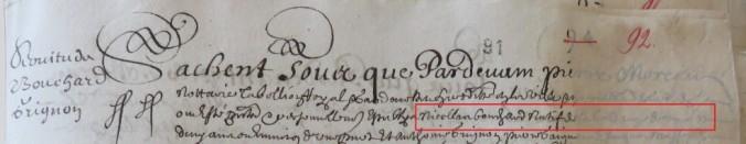 Contrat d'engagement de Nicolas Bouchard