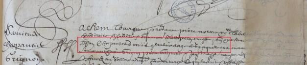 Contrat d'engagement de Jean Charpentier