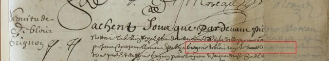 Contrat d'engagement de Grégoire Deblois