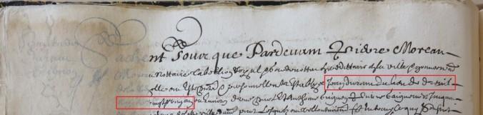 Contrat d'engagement de Jean Durant