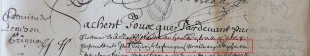 Contrat d'engagement de Pierre Gezeron