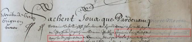 Contrat d'engagement de François Giron