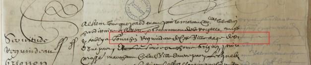Contrat d'engagement de Joachim Reguindeau