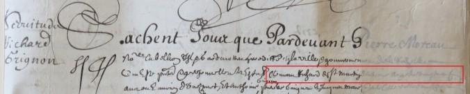Contrat d'engagement de Clément Richard