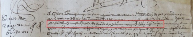 Contrat d'engagement de Michel Touzeau