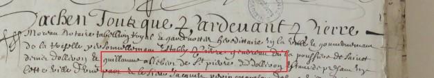 Contrat d'engagement de Guillaume Albert 1656
