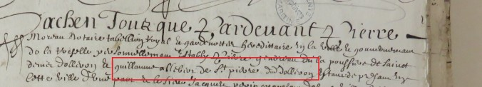 Contrat d'engagement de Guillaume Albert 1656