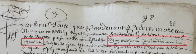 Engagement de Jean Crépeau 1656
