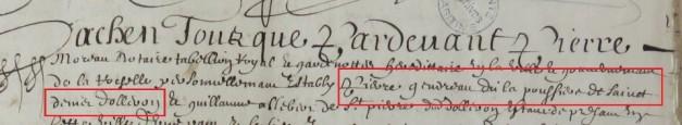 Engagement de Pierre Gendreau 1656