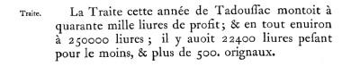 Extrait. Traite de 1648. (Source : Abbés Laverdière et Casgrain, Le Journal des Jésuites, Québec, Léger Brousseau, 1871, p. 116)
