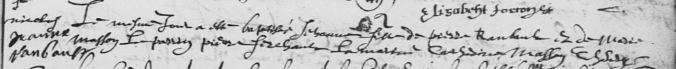 Acte de baptême de Jeanne Rambaut. 27 novembre 1620. (Source : AD17. Ms 253. La Rochelle. Paroisse Sainte-Marguerite. Baptêmes. 1620-1639, folio 11r)