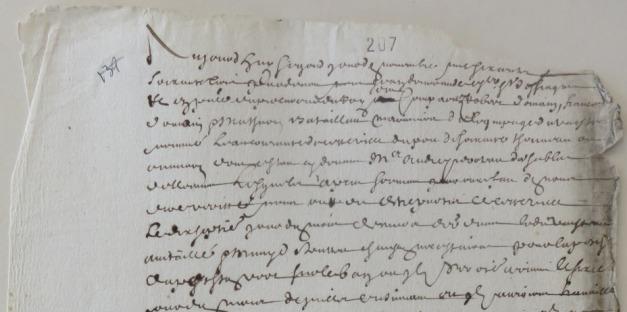 Extrait. Rapport de trois mariniers concernant le voyage de pêche de la barque L'Eau courante « sur le banc » en 1663. (Source : AD17. Fonds Amirauté de La Rochelle. Documents du greffe. B5664, pièce 139)