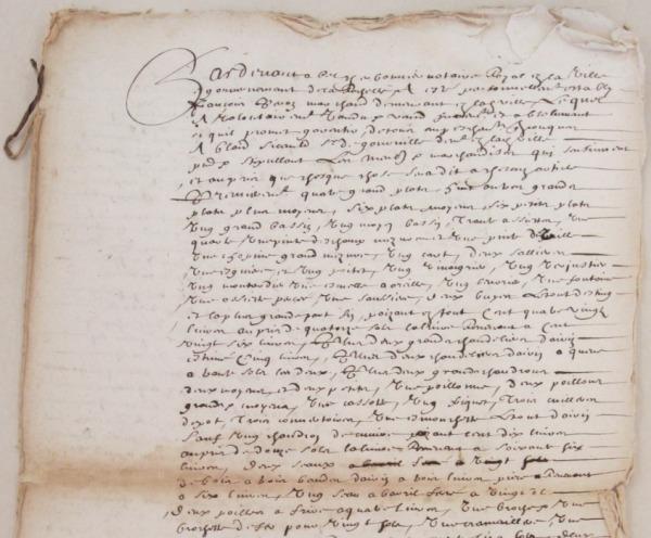 Extrait. Vente de meubles et marchandises par François Peron à Blais Sicault. 21 juillet 1664. (Source : AD17. Notaire Abel Cherbonnier. Liasse 3 E 308)
