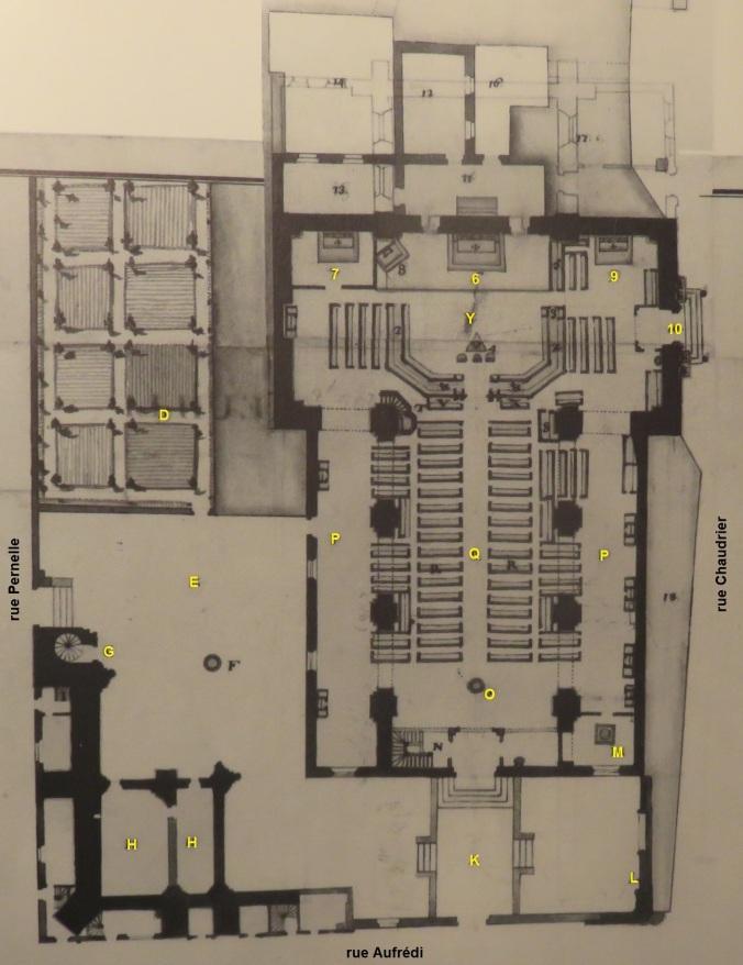 Plan de l'église Saint-Barthelémy de La Rochelle