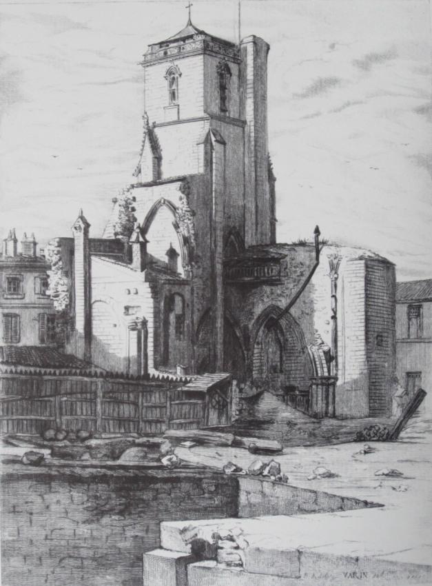 Tour Saint-Barthelémy (Source : J.-B.-E. Jourdan, La Rochelle historique et monumentale, La Rochelle, Rumeur des Âges, 1984, p. 97)