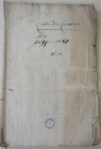 Page titre. Liste des convertis 1631-1661 [sic]. (Source : AM17. GG737. Protestantisme – Religion réformée)