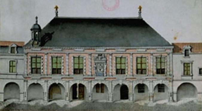 Élévation du palais de justice au XVIIIe siècle. (Source : Inventaire topographique de la vieille ville de La Rochelle. 1990)