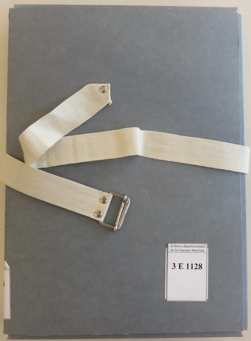 224 – Inventaire sommaire de la « liasse Canada » du notaire Abel Cherbonnier, de La Rochelle
