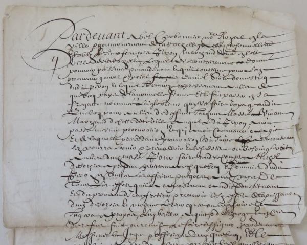 Procuration de François Peron à Daniel Suire. 1662